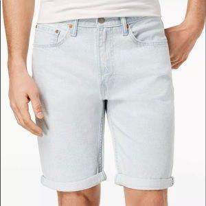 Mens levis 502 jeans shorts light blue